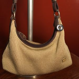 The Sak Crocheted Shoulderbag w/Canvas Trim